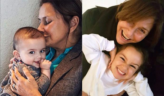 Fafá de Belém adora mimar as netas Julia (esq.) e Laura (dir.), e é para elas que quer dedicar seu sonho de fazer um musical (Foto: Arquivo pessoal)