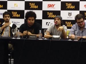 Elenco e equipe de 'Tim Maia' lança filme durante entrevista coletiva em São Paulo (Foto: Cauê Muraro/G1)
