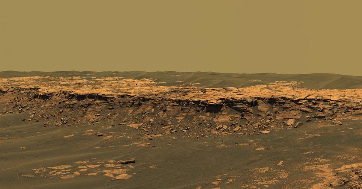 Panorama da colina Payson, nomeada em homenagem a uma região do Estado do Arizona (Foto: Divulgação/Nasa)