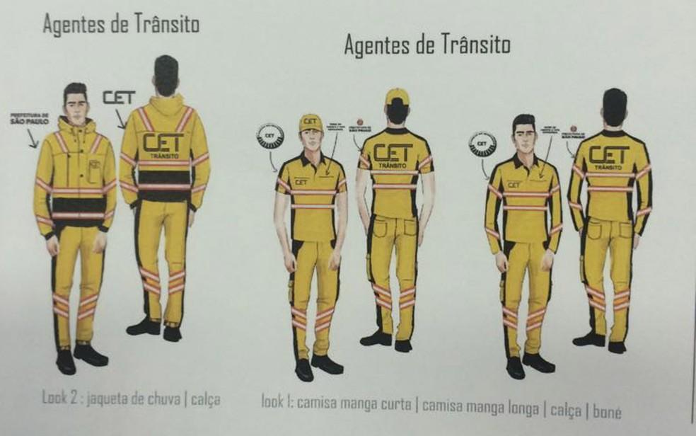 Novo uniforme dos agentes da CET de São Paulo (Foto: Tahiane Stochero/G1)