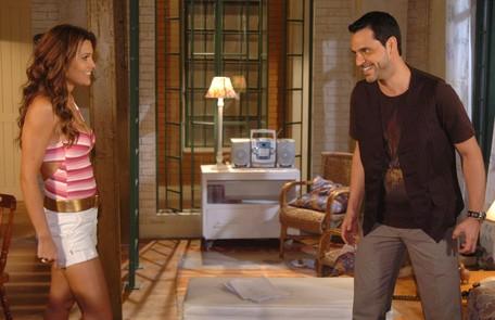 Em cena de 'Pé na jaca', com Bruno Garcia, em 2007 Renato Rocha Miranda/ TV Globo