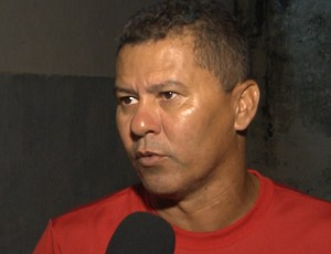 Ramiro Souza, treinador do Santa Cruz-PB (Foto: Reprodução / TV Paraíba)