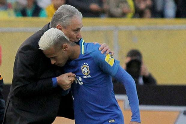 Neymar e Tite  (Foto: Getty Images)