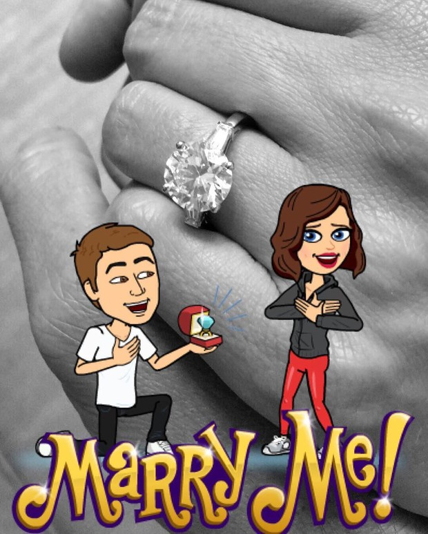 Miranda Kerr e Evan Spiegel: noivos (Foto: Reprodução / Instagram)