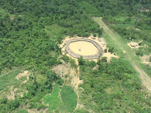 Comunidade Piaú, região de de Toototobi, na Terra Indígena Yanomami (Foto: Inaê Brandão/G1 RR)