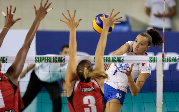 Volei Superliga - Sesi x Rio de Janeiro - Gabi (Foto: Miguel Schincariol/Adorofoto)