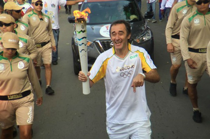 Marcelo Barreto, SporTV, tour da tocha, Minas Gerais, Bicas (Foto: Pedro Veríssimo)