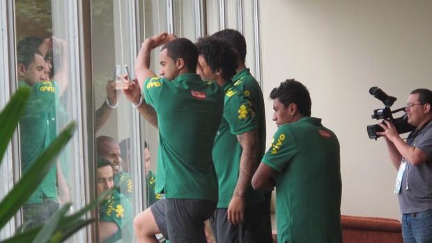 seleção brasileira jogadores praia vista (Foto: Leandro Canônico)
