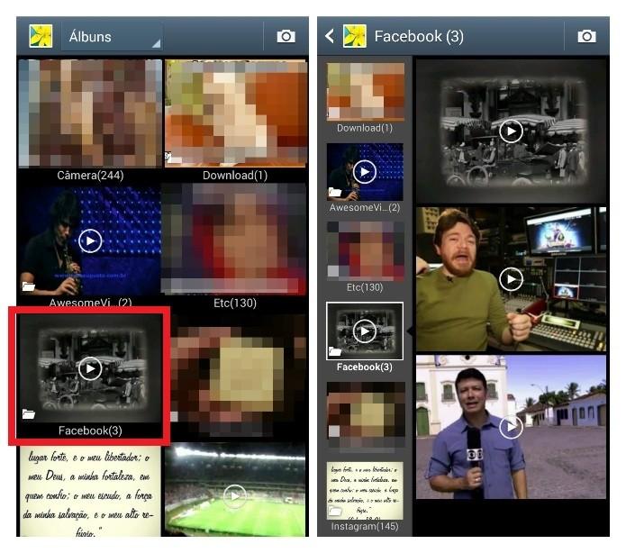 Vídeos do Facebook baixados no celular (Foto: Reprodução/Lívia Dâmaso)