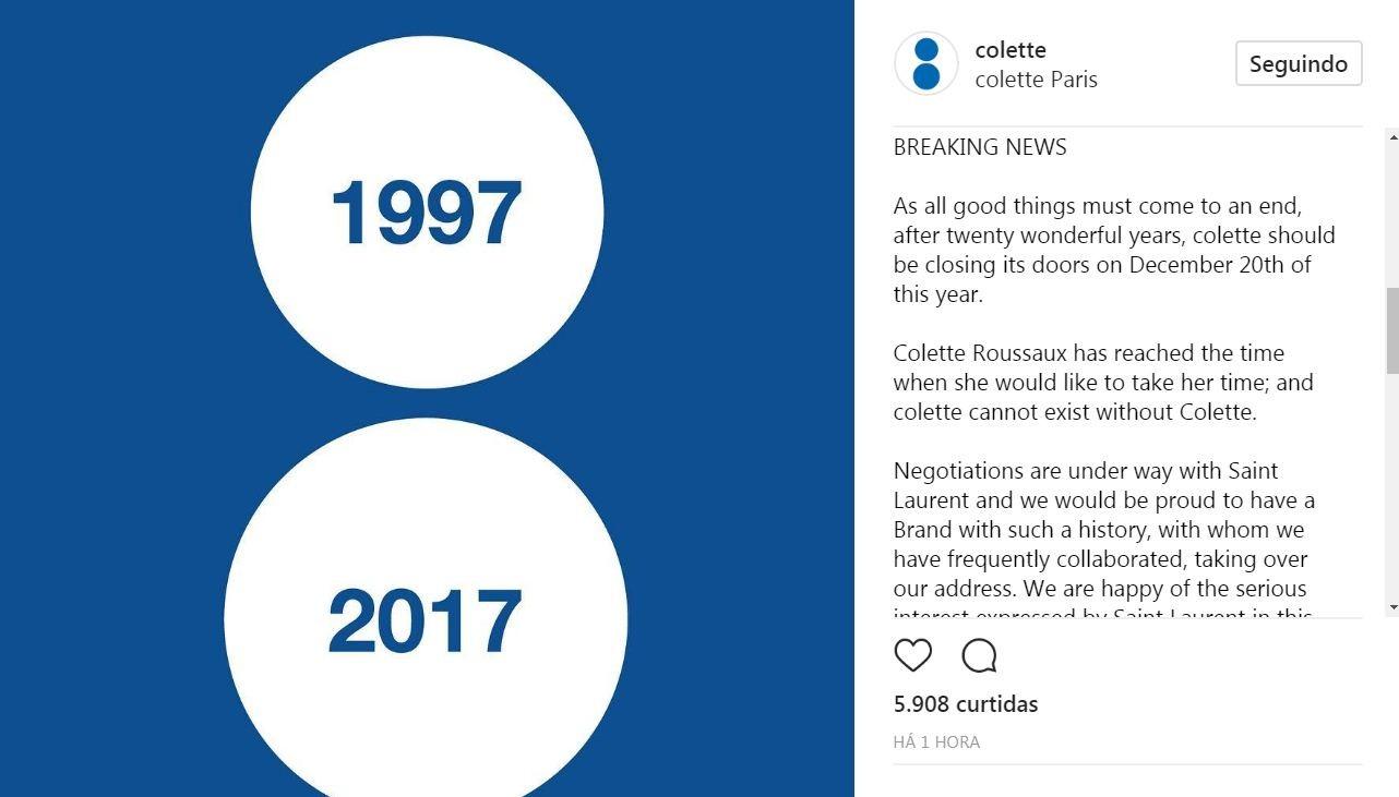 Colette (Foto: Reprodução/Instagram)