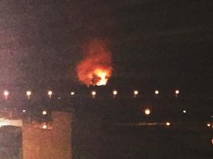Explosão na fábrica da Imbel em Juiz de Fora (Foto: Gláucia Mendes Paulino/Arquivo Pessoal)