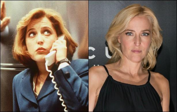 Gillian Anderson se deu tão bem como a Dana Scully do seriado 'Arquivo X' (1993–2002) que até ganhou um Globo de Ouro pelo papel. A atriz gravou a série dos 24 aos 34 anos de idade. Agora tem 46. (Foto: Getty Images)