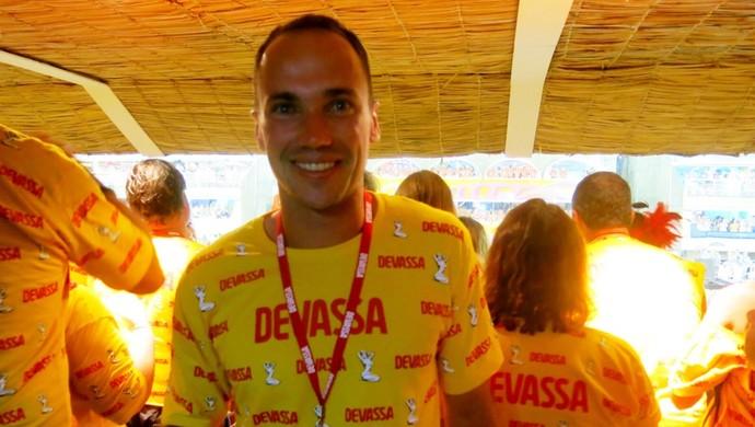 Bruno Soares, tenista na Sapucaí (Foto: Edgard Maciel de Sá)