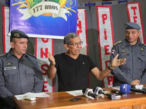 """""""Não há paralisação"""", afirmou o titular da SSP-AM, Cel. Vital (Foto: Diego Toledano/ G1 AM)"""
