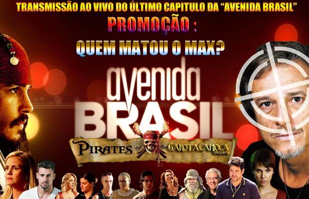 Reprodução do cartaz do bar, na Asa Norte,  que vai fazer bolão no último capítulo da novela Avenida Brasil nesta sexta (Foto: Divulgação)