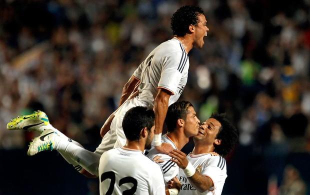 Cristiano Ronaldo comemoração jogo Real Madrid e Chelsea (Foto: Reuters)