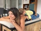 Joana Balaguer posa em momento fofo com filho: 'Faz de mim o que quer'