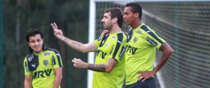 Cárdenas, Lucas Pratto, Jô e Levir Culpi, do Atlético-MG (Foto: Bruno Cantini/Flickr do Atlético-MG)