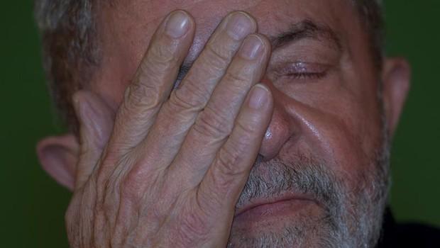 O ex-presidente Luiz Inácio Lula da Silva na abertura da conferência do Contag (Foto: Joédson Alves/EFE)