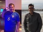 Leandro Hassum compara antes e depois da cirurgia bariátrica
