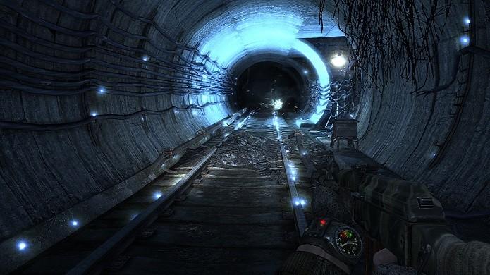 Em uma atmosfera sombria e imersiva, Metro 2033 coloca o jogador na perceptiva do protagonista do livro (Foto: Divulgação)