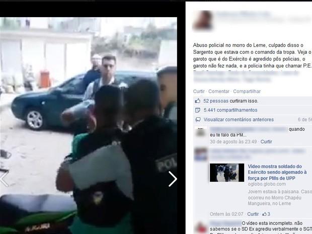 Vídeo foi alvo de debates em redes sociais (Foto: Reprodução/Facebook)