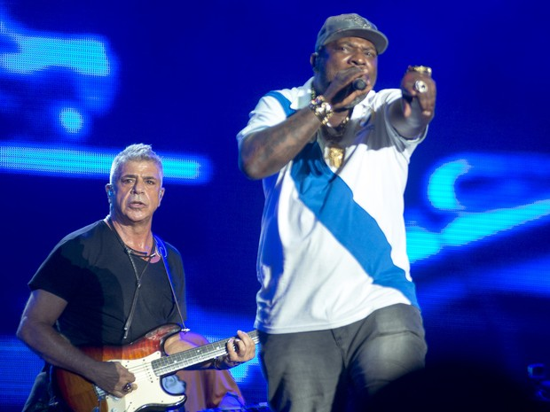 Mr. Catra participa do show do Lulu Santos no Rock in Rio (Foto: Luciano Oliveira/G1)