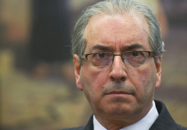 O deputado afastado Eduardo Cunha durante reunião da CCJ da Câmara (Foto: José Cruz/Agência Brasil)