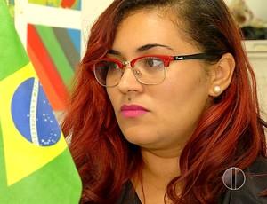 Fernanda Dias - voluntária Rio 2016 - Natal-RN (Foto: Reprodução/Inter TV Cabugi)