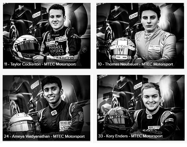 Pilotos da MTEC Motorsport. (Foto: Divulgação/Castrol Toyota Racing Series)