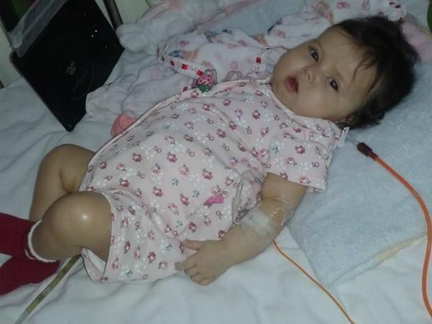 Sofia, de cinco meses de idade, sofre com uma rara doença (Foto: Divulgação / Campanha 'Ajude a Sofia')