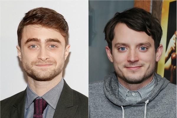 Harry Potter ou Senhor dos Anéis? Daniel Radcliffe e Elijah Wood, protagonistas das respectivas franquias, são muito parecidos (Foto: Getty Images)