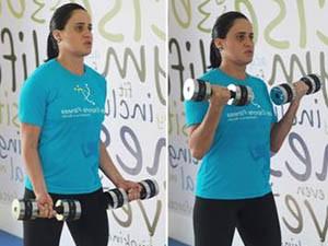 Exercício indicado para fortalecimento dos bíceps femoral (Foto: Sarah Wollermann)