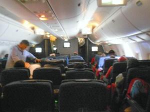 Clima entre os passageiros durante o voo foi de tranquilidade (Foto: Fred Sabino/SporTV)