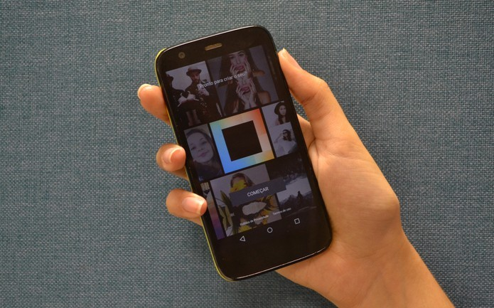 Layout, do Instagram, cria montagens com fotos e vídeos da rede social (Foto: Melissa Cruz / TechTudo)