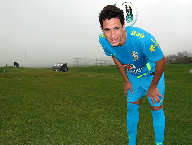 Higor no treino da Seleção sub-20  (Foto: Marcelo Baltar / Globoesporte.com)