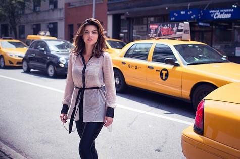 Mayana Neiva em Nova York (Foto: Bilo Husseim)