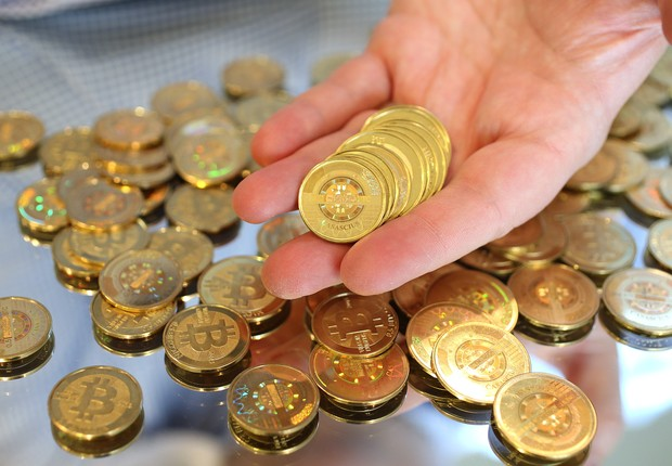 bitcoin, moeda virtual, criptomoeda (Foto: George Frey/Getty Images)