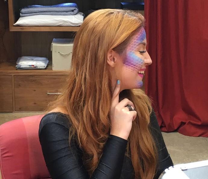 Blogueira Bianca Andrade mostra efeito de escamas na pele (Foto: Thaís Dias / Gshow)