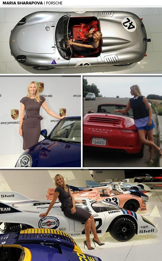 maria sharapova Porsche tenis galeria (Foto: Editoria de Arte)