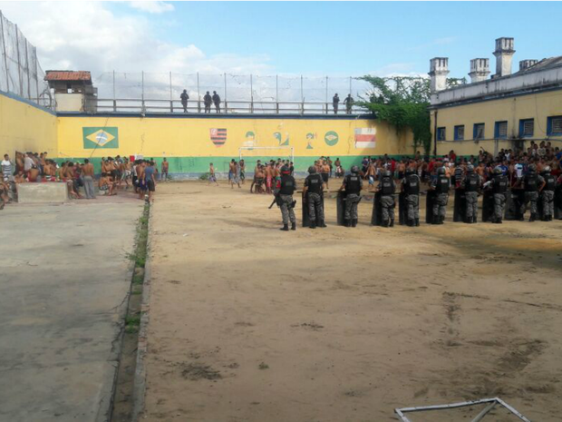 Detentos pedem melhoria nas acomodações da cadeia pública (Foto: Divulgação/Polícia Militar)
