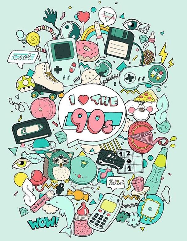 Anos 90 (Foto: Reprodução/Pinterest)