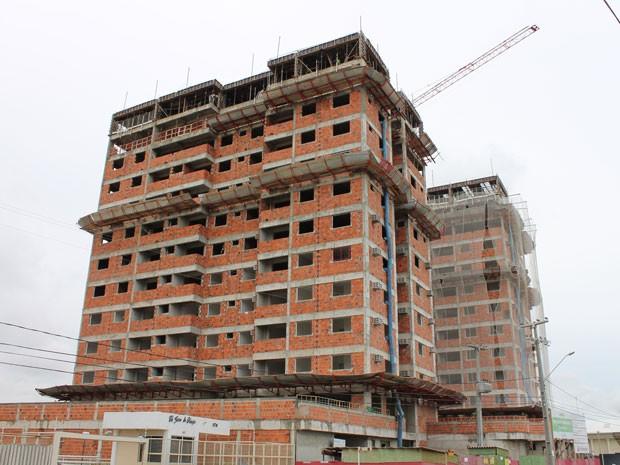 Petrolina registra aumento na construção civil (Foto: Amanda Franco/G1)
