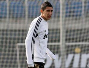 Di María em treinamento do Real Madrid (Foto: Site oficial do Real Madrid)