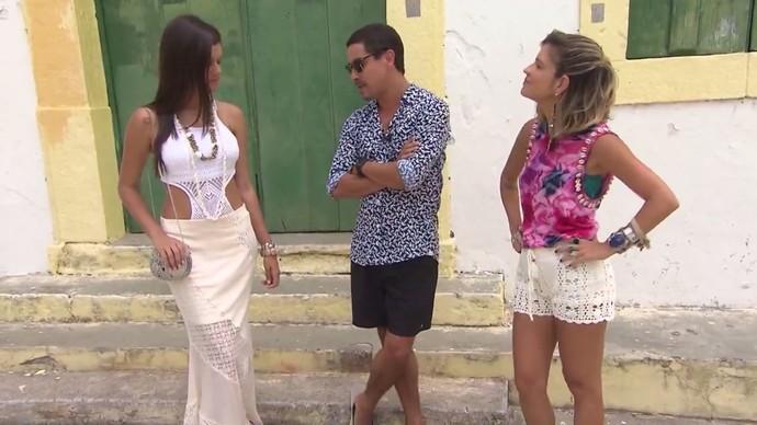 Look inspirado nas sereias tem body em crochê e saia de renda (Foto: TV Bahia)