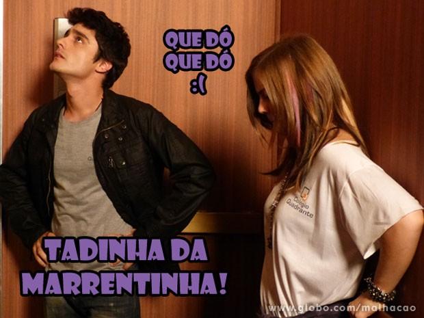 Só que o Vitão não tá nem aí e só quer saber de dar um monte de fora na Lia! Tadinha! (Foto: Malhação / Tv Globo)