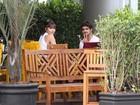 Caio Castro e Maria Casadevall almoçam juntos
