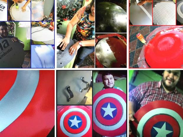 Projeto 'Escudo do Capitão' durou cinco dias, conta Rocha (Foto: Heriko Rocha/Arquivo pessoal)