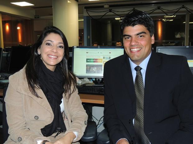 Cristiane Silva e André Azeredo farão a transmissão do Desfile Tradicionalista de Porto Alegre (Foto: Fernando Lopes/RBS TV)