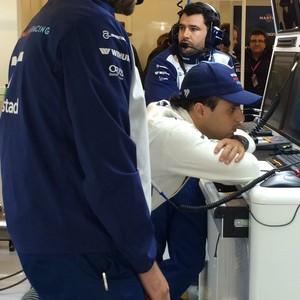 O brasileiro Felipe Massa da Williams e a interminável espera em Austin: jornada dupla neste domingo (Foto: Divulgação)